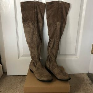 Francesca's Odina-001 Suede Over the Knee Boot